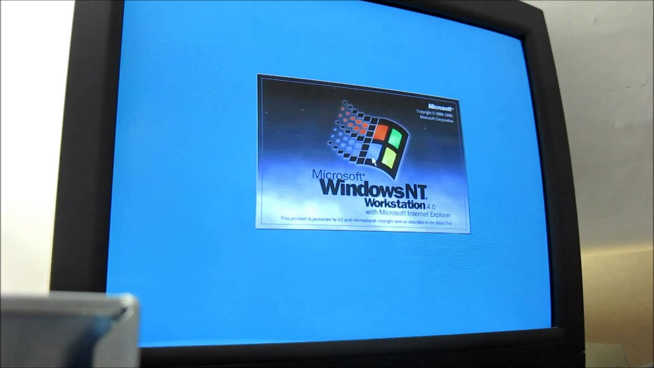 Dell Poweredge 2200 Running Windows Nt 4 Workstation Youtube