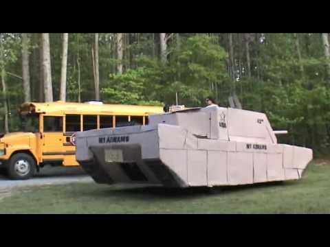 lifesize cardboard tank youtube