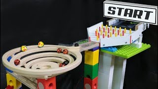 Amazing marble race: Cyclone QUADRILLA - mini tournament elimination marble run