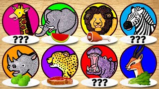 Zoo Wild Animals for Kids, Learn Animals Names and Sounds | Puzzle Animation for Children Learning