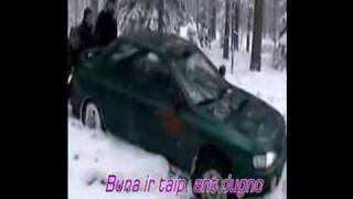 Impreza in snow. Little problems