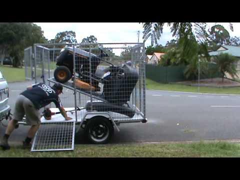 Yhm mowing trailer 002 youtube for Garden maintenance trailer