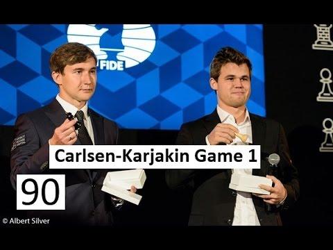 Carlsen-Karjakin Game 1 World Championship 2016