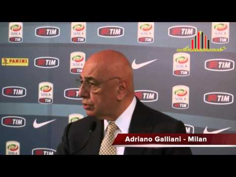 Adriano Galliani su Clarence Seedorf 28 04 14