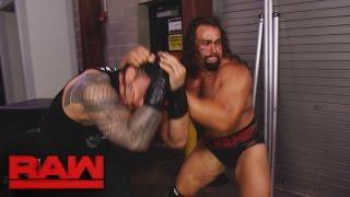 Rusev ambushes Roman Reigns backstage: Raw, Aug. 15, 2016