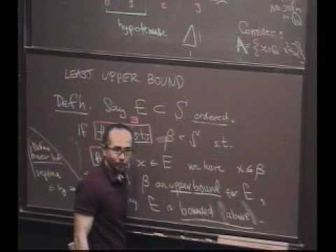 Real Analysis, Lecture 3: Construction of the Reals