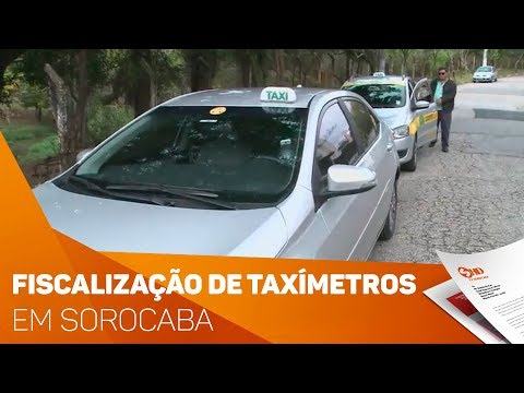 IPEM fiscaliza taxímetros em Sorocaba - TV SOROCABA/SBT