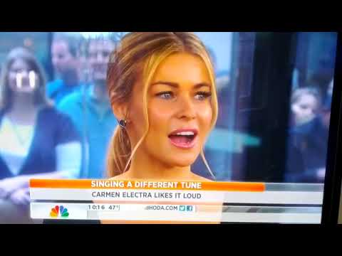Carmen Electra in Today's show NBC