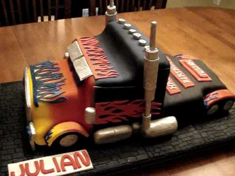 Transformers Optimus Prime Fondant Birthday Cake Youtube