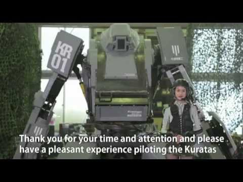 Les japonais inventent Kuratas  Un robot de 4 mtres arm comme il se doit !
