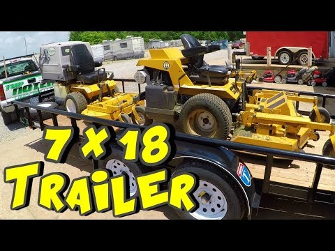 New 7X18 Lawn Care Trailer & Commercial Property