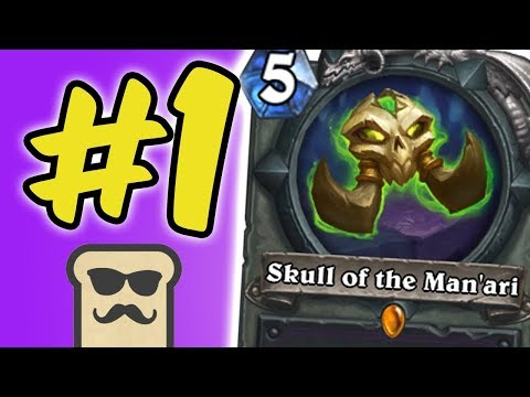 #1 WINRATE DECK feat. SKULL OF THE MAN'ARI | OTK WARLOCK | HEARTHSTONE | DISGUISED TOAST