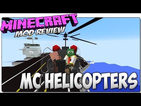 MC HELICOPTERS MOD MINECRAFT 1.7.10   Helicópteros. aviones. barcos y lanzamisiles   MOD REVIEW