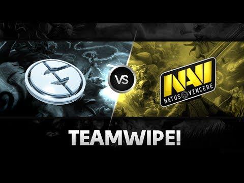 Teamwipe by EG vs Na`Vi @ D2L Western Challenge