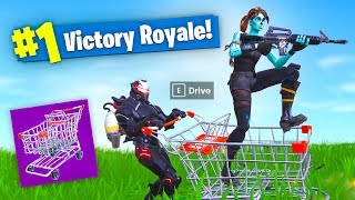 *NEW* SHOPPING CART Fortnite 34 KILL Gameplay