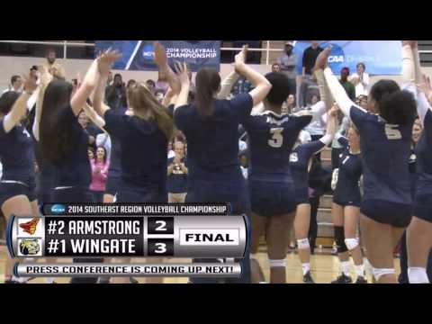 2014 Wingate Volleyball - Highlights - Regional Clinching Point
