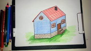 Ev nasıl çizilir / How to drawing house?