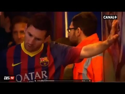 Lionel Messi vomits in the tunnel |  Barcelona vs Athletic Bilbao 2-1 | 2014