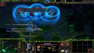 Double Ultra Kill on 2Minutes With Wrath of Nature Warcraft Dota IMBA