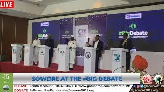 LIVE: Omoyele Sowore speaking at the #Bigdebate Center for Democracy Development #TakeItBack