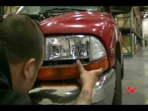 Dodge Dakota 97-04 Anzo USA Crystal Head light installation