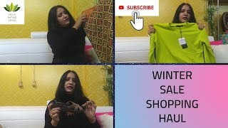 Winter Sale Shopping Haul || Quick Overview