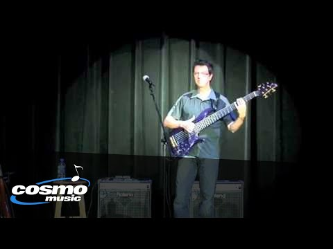 UZEB bassist Alan Caron live at Cosmo Music