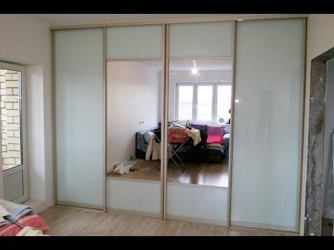 Шкаф купе с зеркальными дверями своими руками