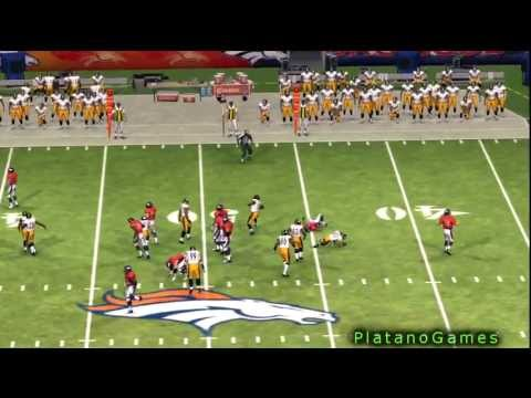 NFL 2012 Season Week 1 SNF - Pittsburgh Steelers vs Denver Broncos - 1st Half - Madden NFL '13 - HD