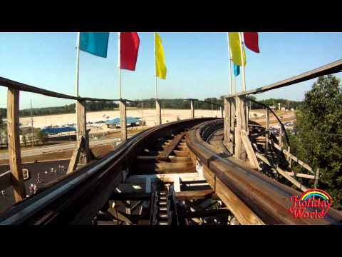Holiday World's Raven wooden roller coaster POV (in HD)
