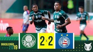 PALMEIRAS 2 x 2 BAHIA - Melhores Momentos - Brasileirão 2019 (11/08/2019)