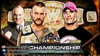 WWE Hell In A Cell 2012 Official Match Card HD