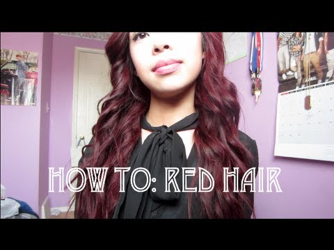 How To: Red Hair From Dark Hair
