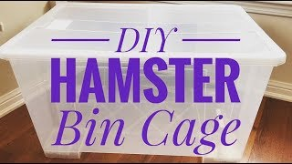 DIY   HowTo Make a Hamster Bin Cage
