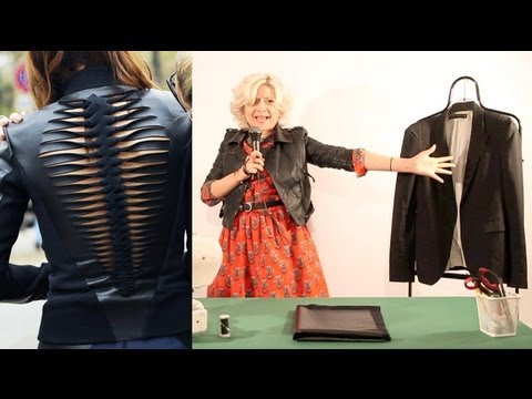 How to make a DIY Dion Lee leather jacket as seen on Christine Centenera : Fashion Attack