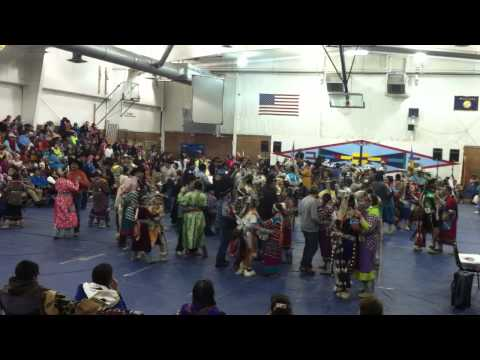 Push Dance during New Years Dance, Crow Agency MT. 2013 going into 2014