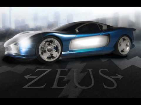 Car concept, Zeus EV 2010, design electric vehicle.