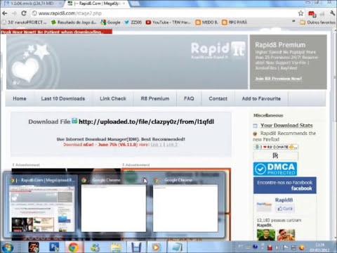 Burlar limite de download 2012. (RapidShare, HotFile, EasyShare, Uploaded, Etc)