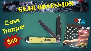 W.R.  Case Yellow Trapper USA Pocket Knife
