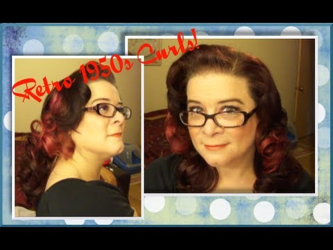 Easy Retro 1950s Curls - A Vintage Hair Tutorial