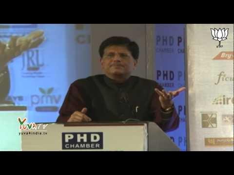 Shri Piyush Goyal addresses annual session of PHD chamber of commerce in New Delhi: 20.12.2014