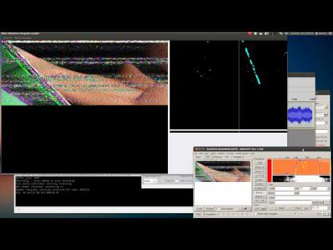 SSTV demodulation/decoding, slant correction tutorial example