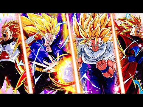 SSJ3 Future Trunks & Gohan Team vs Super Battle Road! DBZ Dokkan Battle