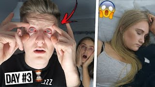 Last To Fall Asleep Wins £1,000 CHALLENGE with LITTLE SISTER & GIRLFRIEND!!
