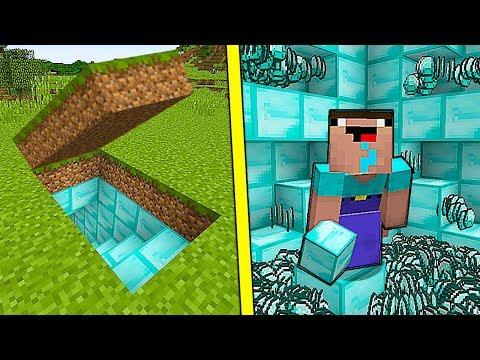 НУБ НАШЕЛ СЕКРЕТНУЮ БАЗУ из АЛМАЗОВ В Майнкрафте! Minecraft Мультики Майнкрафт троллинг Нуб и Про