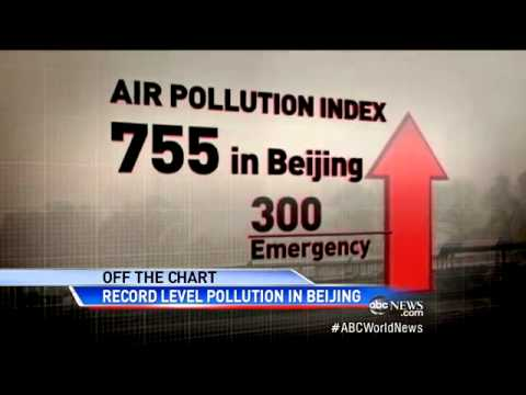 Beijing Air Pollution Forces 20 Million People Indoor