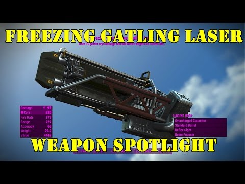 Fallout 4: Weapon Spotlights: Freezing Gatling Laser