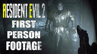 Resident Evil 2 Remake FIRST PERSON Mod Footage