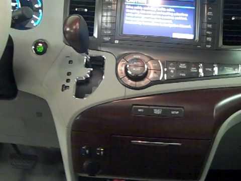 toyota sienna xle drivers seat dash board