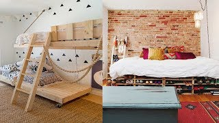 Creative Ideas Pallet Bed Recycled Pallet Bed Frame Designs